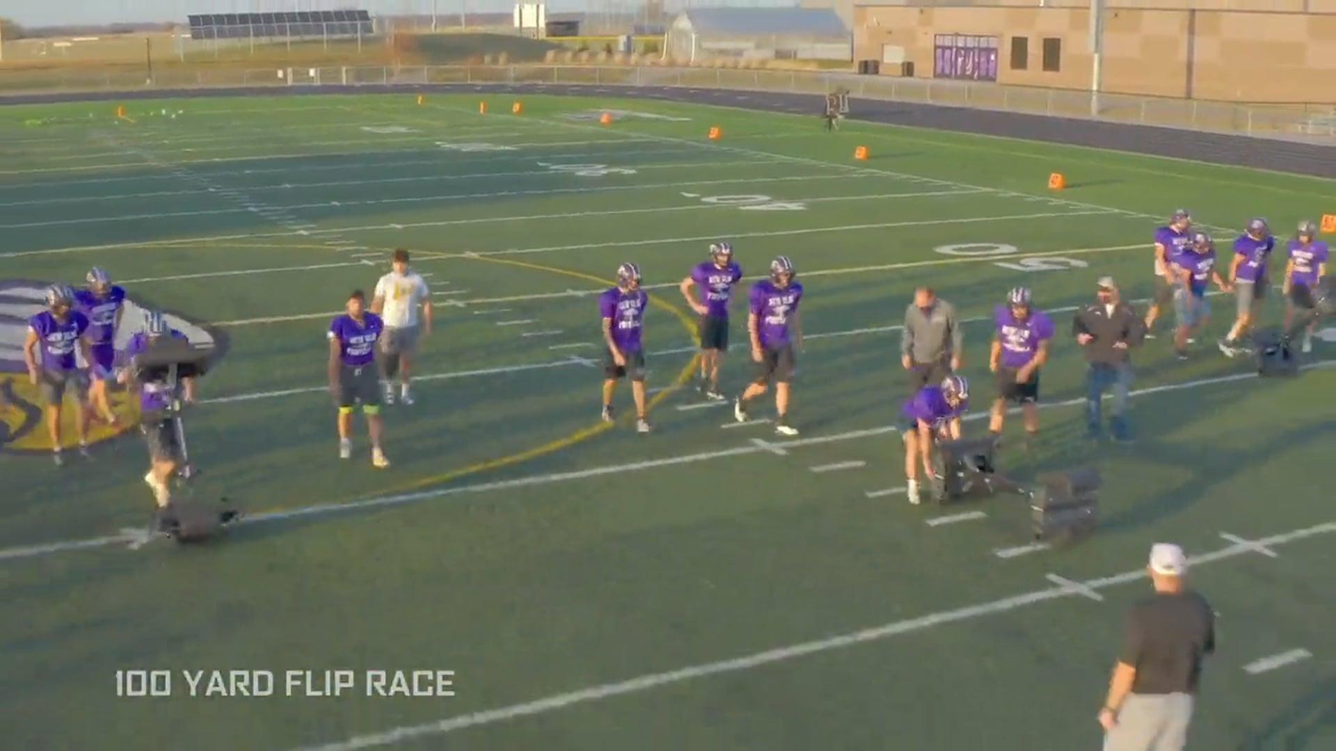 100 Yard Flip Race